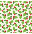Seamless pattern of holly berry sprig vector
