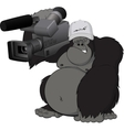 Monkey with camera vector