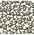 Cute cat background vector