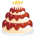 Cake cartoon vector