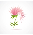 Abstract lotus flower icon isolated on white vector