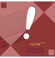 The exclamation point flat modern web design on a vector