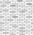 Wall of white bricks and gray vector