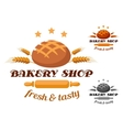 Bakery shop label or badge vector