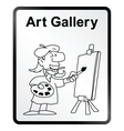 Art gallery information sign vector