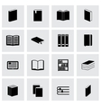 Black book icon set vector