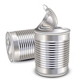Tin cans vector