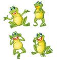 Frog series vector