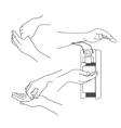 Hand massage and treatment set vector