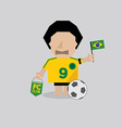 Brazilian soccer or football man vector