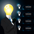 Idea business man infographic vector