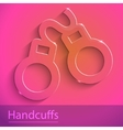 Cuff sign glass icon vector