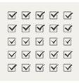Set of twenty-five different grey ticks or check vector