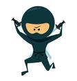 Ninja with katana vector
