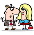 Funny man and woman couple cartoon vector