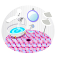 Bathroom with bath tub vector