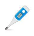 Medical thermometer on white background vector