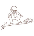 A sketch of a man playing winter sport vector