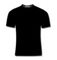 Black t-shirt vector