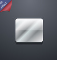 Stop button icon symbol 3d style trendy modern vector