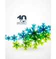 Blue snowflake abstract background vector