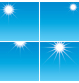 Sunshine in the blue sky - set vector