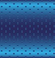 Blue metallic grid dot background vector