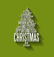 Abstract christmas tree made from words vector
