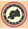 Vintage label-sticker cards of rwanda vector