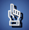 Hand with warning forefinger symbols vector