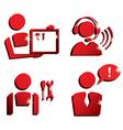 Market service icons set vector