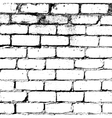 White brick wall texture vector