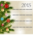 2015 new year calendar vector