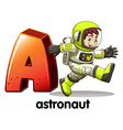 A letter a for astronaut vector