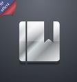 Book bookmark icon symbol 3d style trendy modern vector