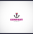 Wine sea company logo vector