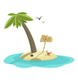 Island for sale vector