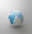 Gray globe element for design vector