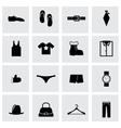 Black clothes icon set vector