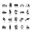 Signs tourism travel sports fourth set vector