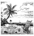 Summer beach sketch vector