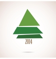 Christmas card with abstract tree for 2014 vector