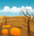 Autumn landscape background vector