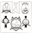 Old city emblems vector