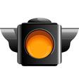 Yellow traffic light vector
