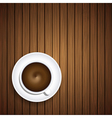 Coffee on wooden background eps10 vector