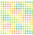 Seamless pattern with checkered watercolor vector