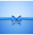 Romantic blue background with cute bow and pattern vector