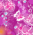 Background with flowers orchid and butterfly vector