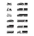 Road vehicles icon set vector